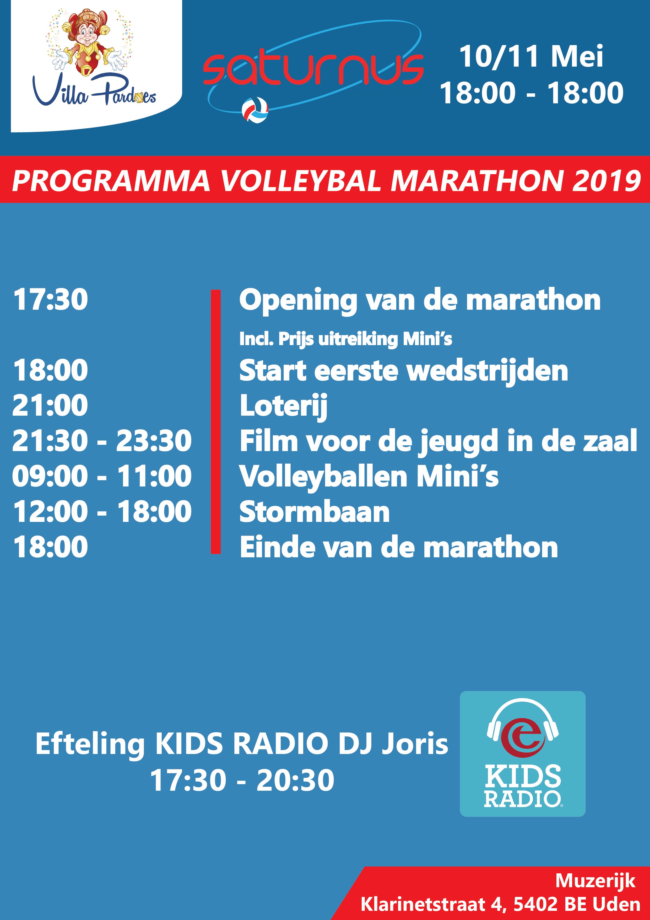 Programma Villa Pardoes marathon